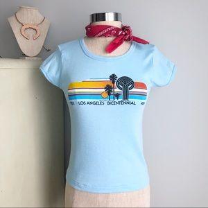 VINTAGE 1980s Los Angeles Bicentennial T-Shirt
